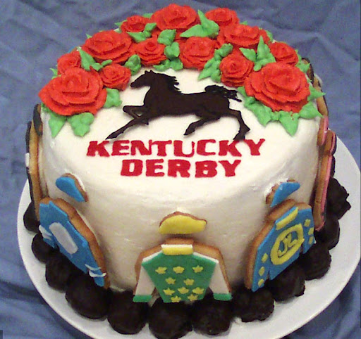 Kentucky Derby themed cake