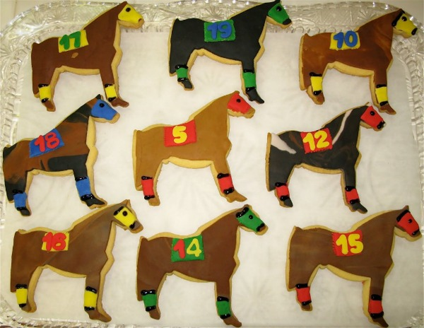 Race Horse cookies for the Kentucky Derby