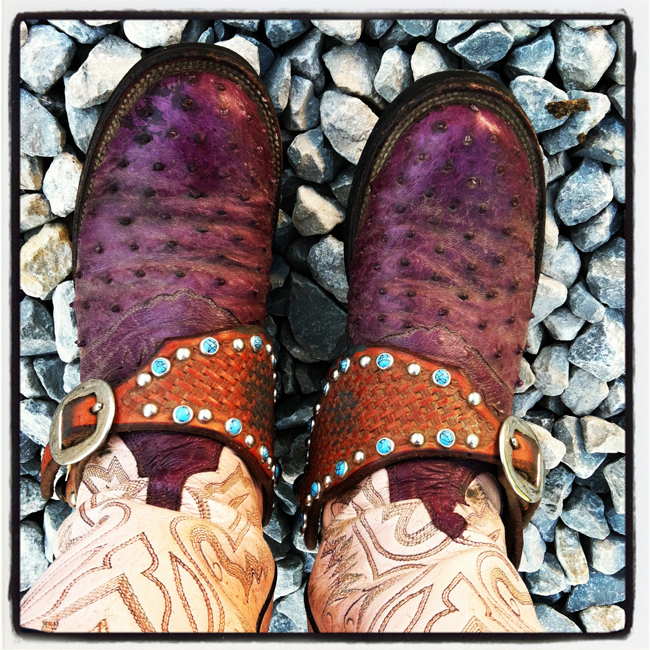purple Lucchese boots