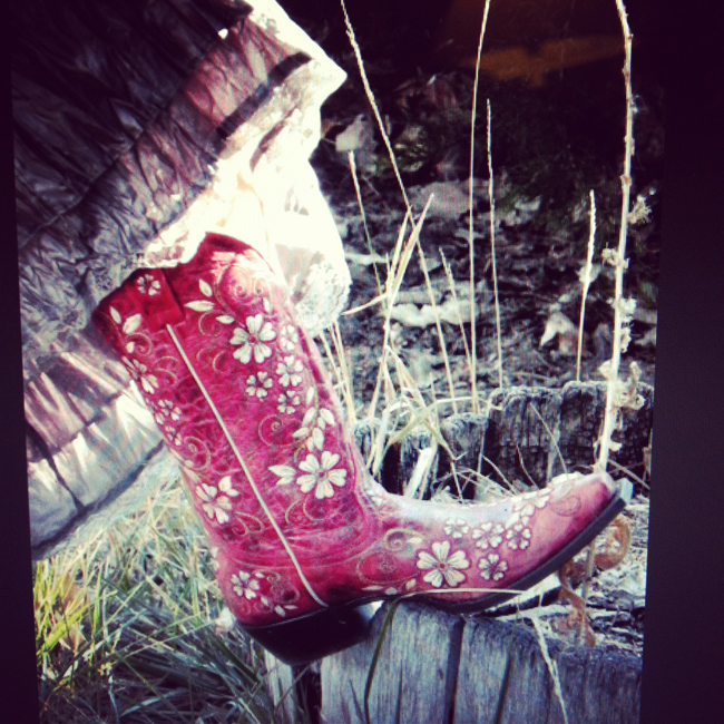 Shyanne red cowboy boots
