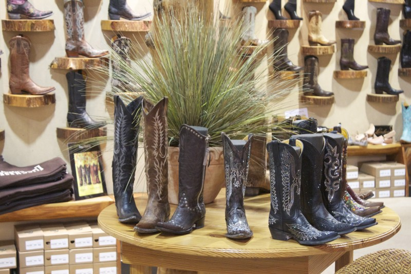 cowboy boot display
