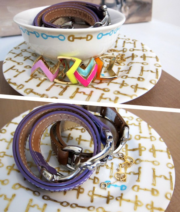 DIY equestrian porcelain paint jewelry display