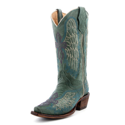 Corral Kids Turquoise Cowboy Boots