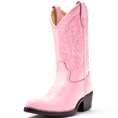Old West Pink Cowboy Boots