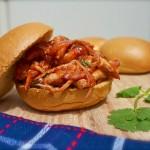 Strawberry BBQ Cilantro Chicken Sandwiches