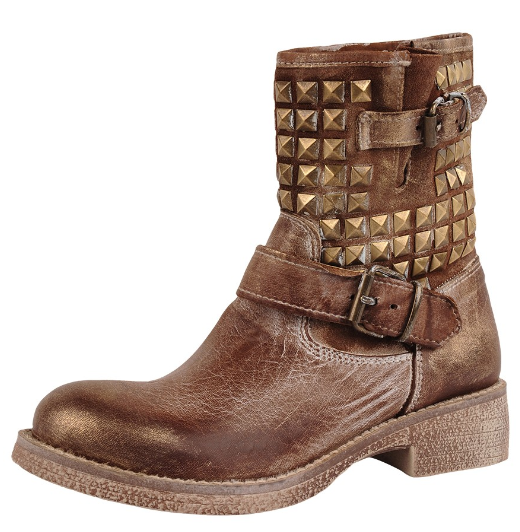 Stud Buckle Boots