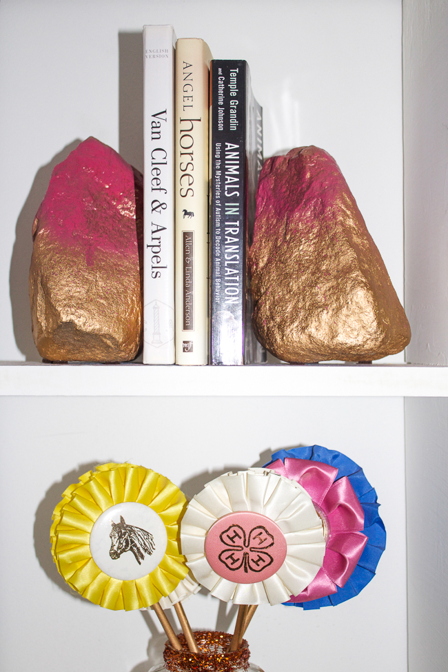DIY Bookends & Horse show ribbons