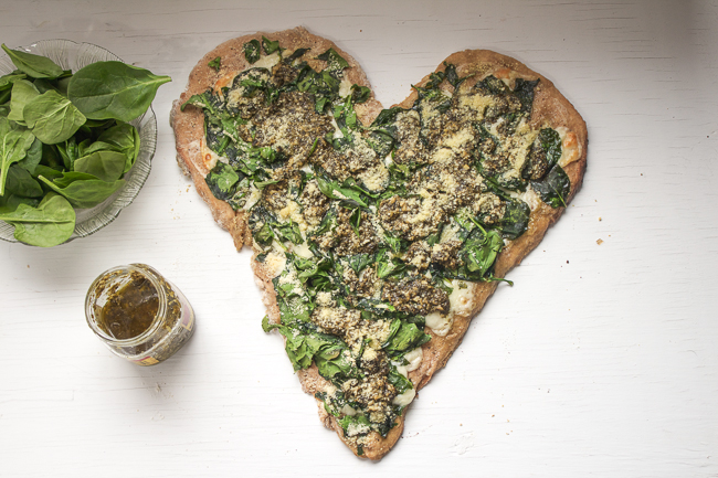 Dinner for Two: Spinach Pesto Pizza