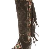 Double D Black Beaded Warrior Boots
