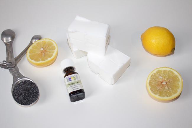 DIY Homemade Poppy Seed Citrus Soap Ingredients