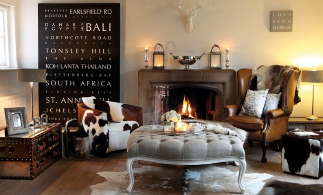 Cowhide Chairs + Inspiring Spaces