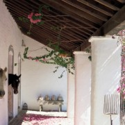 Horses in their stalls, Spanish styling