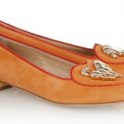 Charlotte Olympia Orange Year of the Horse Flats