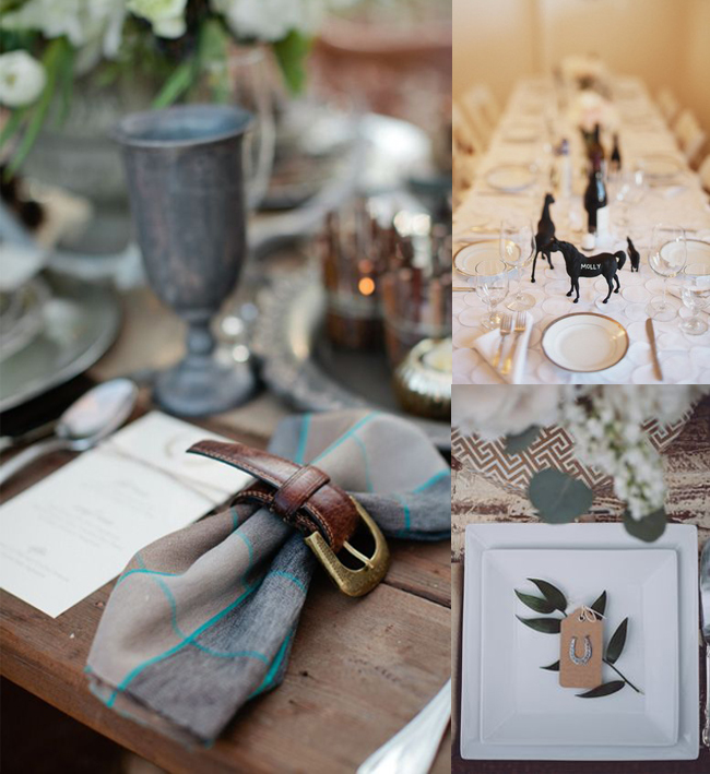 Equestrian Table Settings for Special Ocassions
