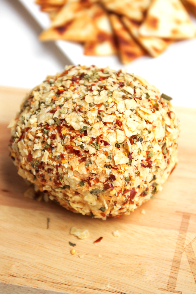 Taco Cheese Ball with Jalapenos