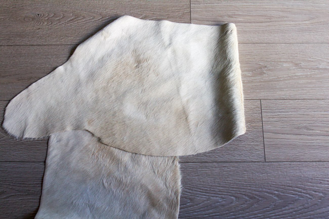Tan Cowhide for a DIY Lampshade