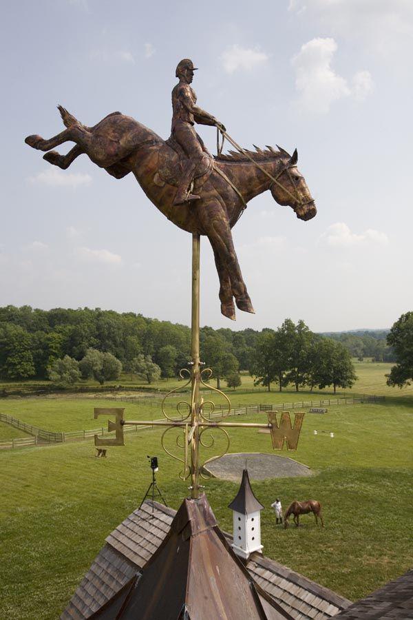 Three Day Eventer Horse Weather Vane