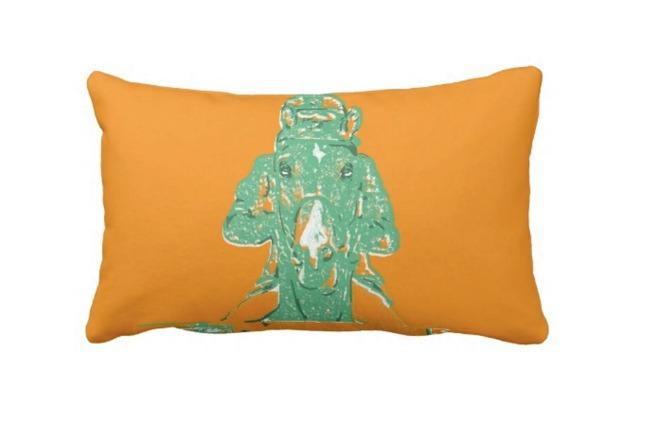 Approach Pillow in Tangerine