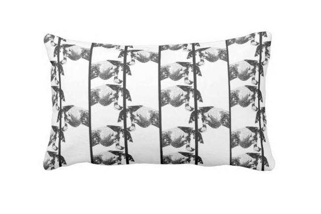 Sauter Print Pillow in Noir