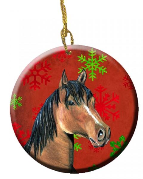 Carolines Treasures horse and snowflakes ornament