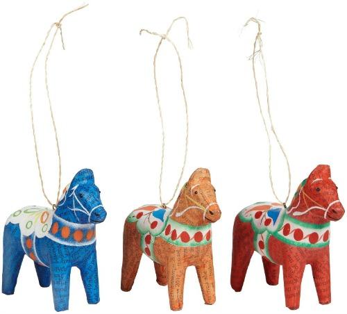 Dala horses, set of three