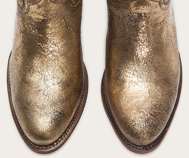 Metallic Cowboy Boots for the Holidays from Frye
