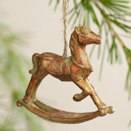 Rocking horse vintage ornament