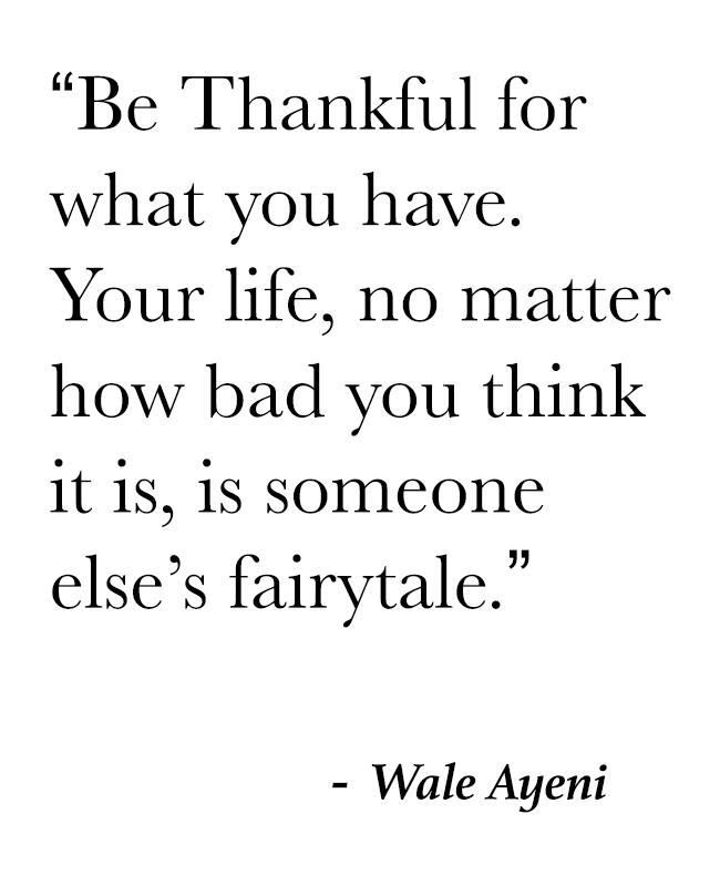 Wale Ayeni Thankful Quote