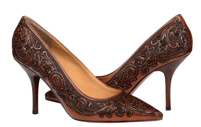 Lucchese Sadie heel in brown