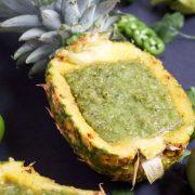A recipe for fresh pineapple salsa verde