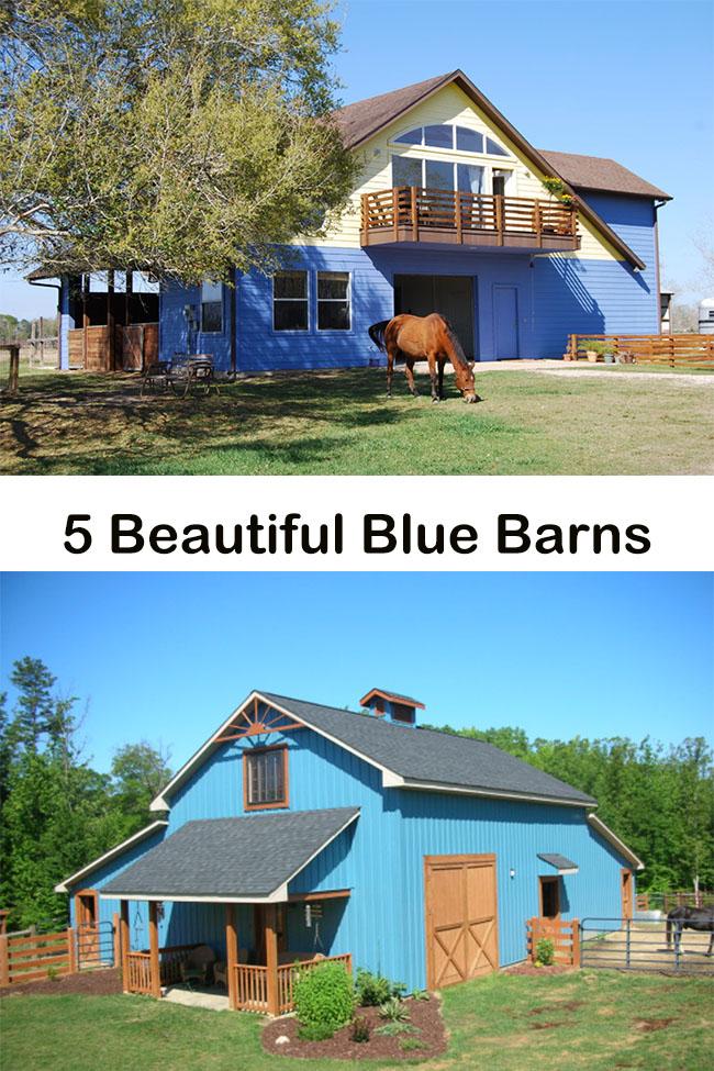 5 Beautiful Blue Barns