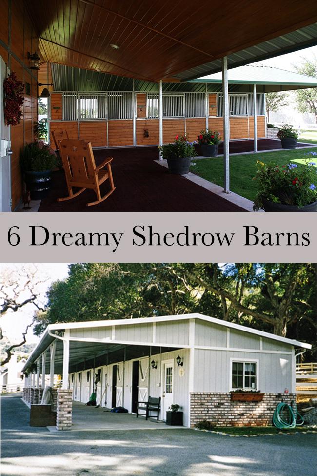 6 Dreamy shedrow barns