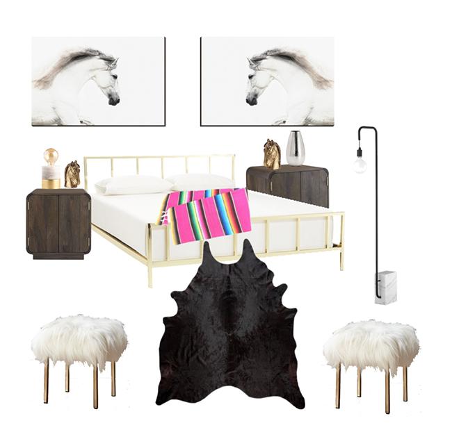Modern Western Bedroom Inspiration