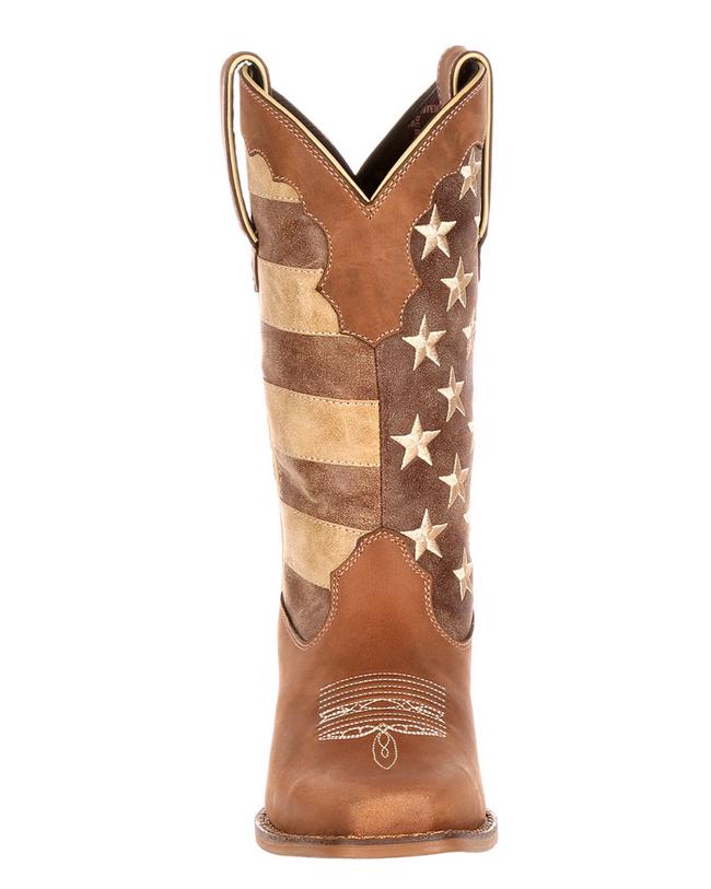 Durango's distressed flag cowboy boots