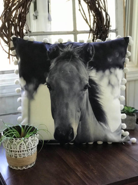 polo pony pillow