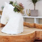 DIY Horse Head Succulent Holder